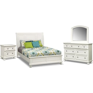 Hanover 6-Piece Queen Panel Bedroom Set - White