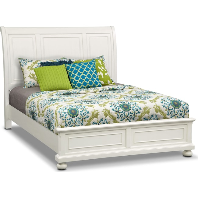 Bedroom Furniture - Hanover King Panel Bed - White