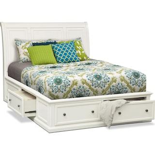 Hanover Queen Storage Bed White
