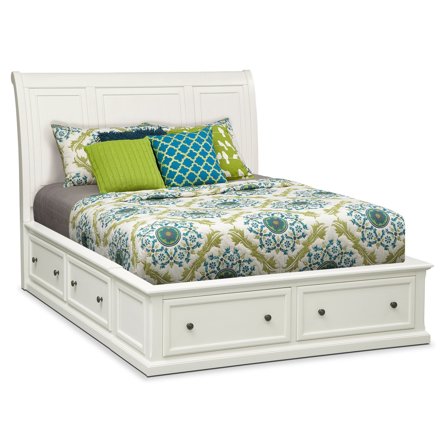 hanover king storage bed white value city furniture 17689 | 398354