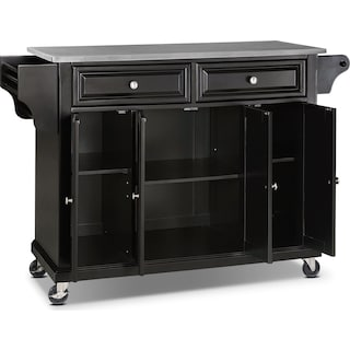 Albany Kitchen Cart - Black
