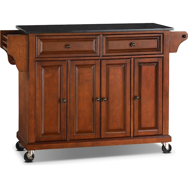 Accent and Occasional Furniture - Richmond Kitchen Cart - Cherry