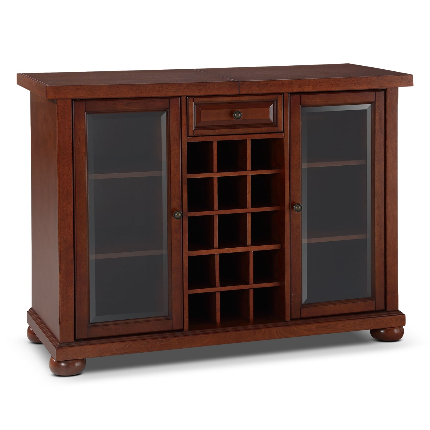 Accent and Occasional Furniture - Russell Bar Cabinet - Mahogany