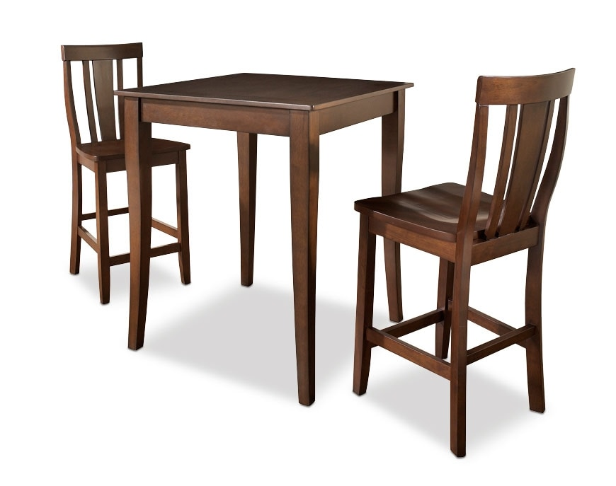 West Pub Table And 2 Chairs Value City Furniture And