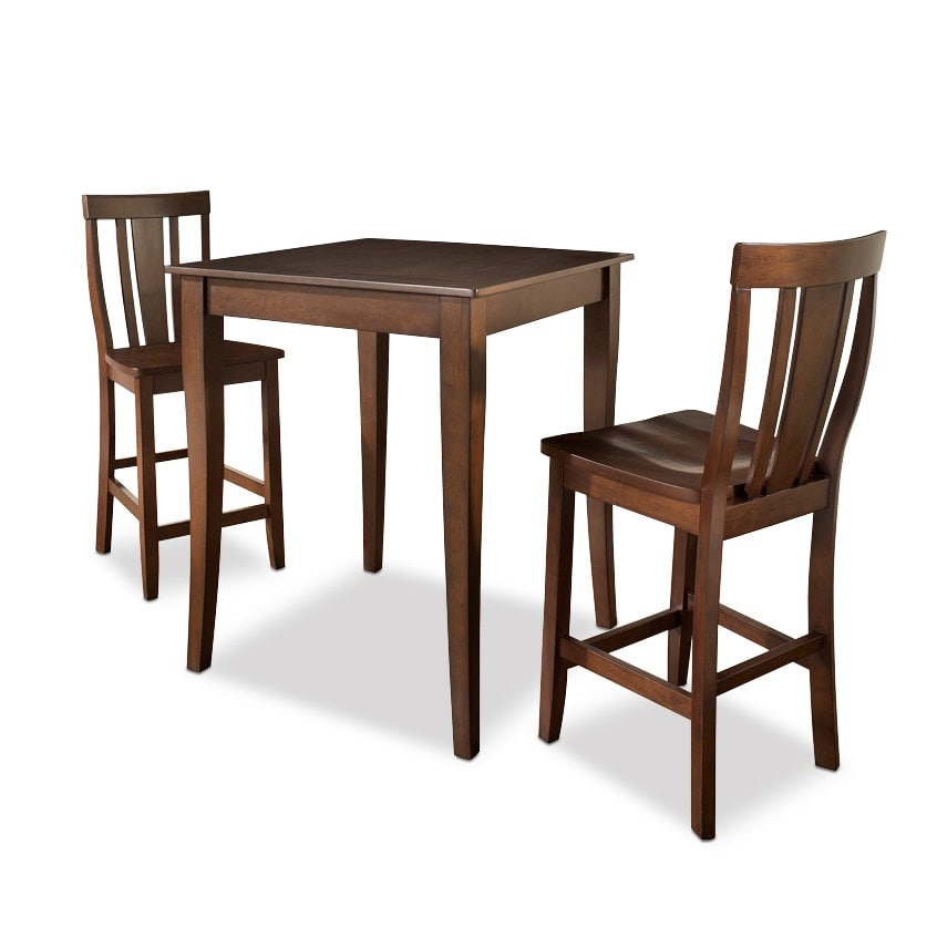 West Pub Table And 2 Chairs Mahogany Value City Furniture