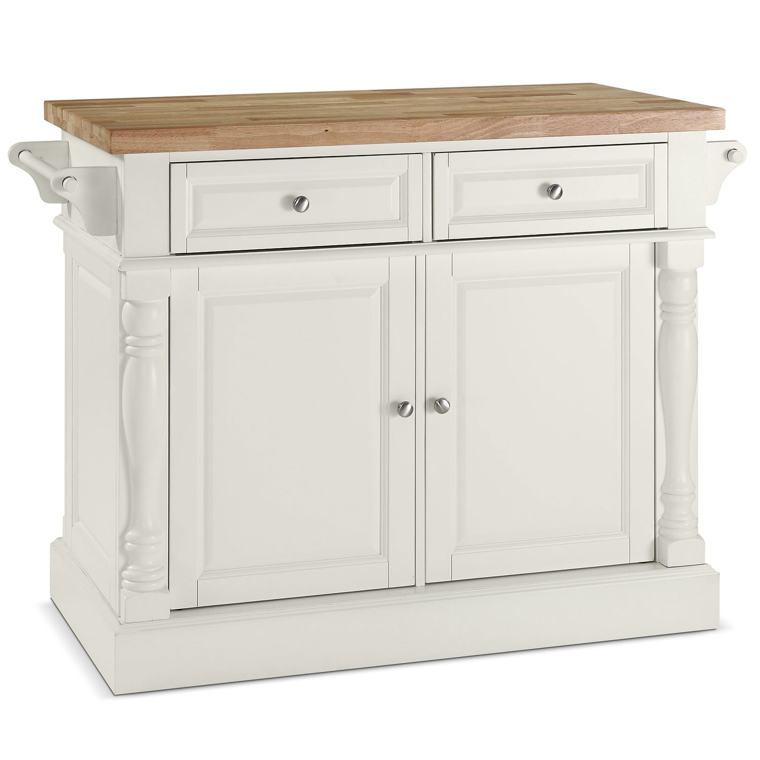 buffet sideboard cabinets value city furniture griffin kitchen island white
