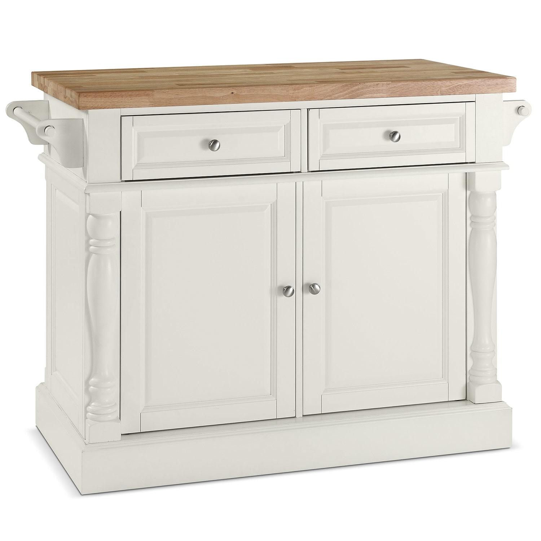 Griffin Kitchen Island White Value City Furniture
