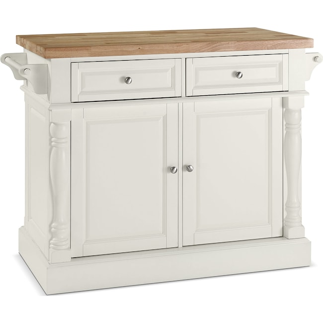 Accent and Occasional Furniture - Griffin Kitchen Island - White