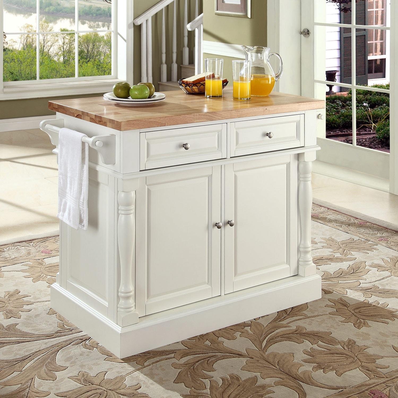 Kitchen Island Furniture: Griffin Kitchen Island - White
