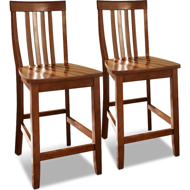 Dining Room Furniture - Harlowe 2-Pack Barstools - Cherry