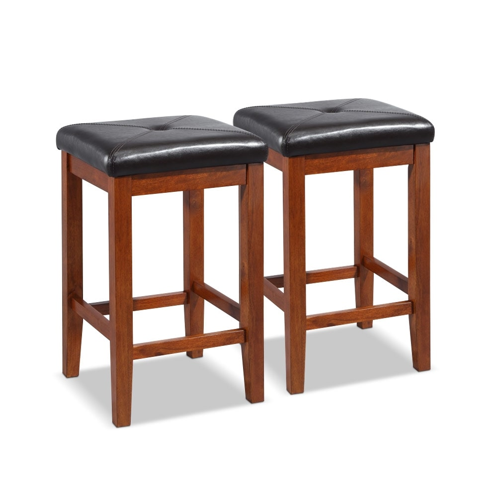Dining Room Furniture - Eesa 2-Pack Barstools - Cherry