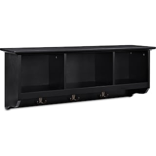 Levi Entryway Storage Shelf - Black