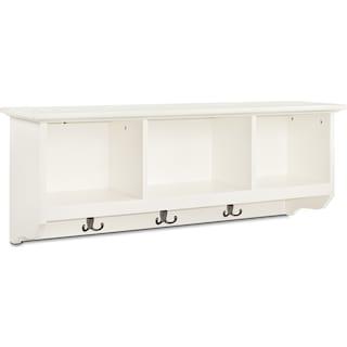 Levi Entryway Storage Shelf - White