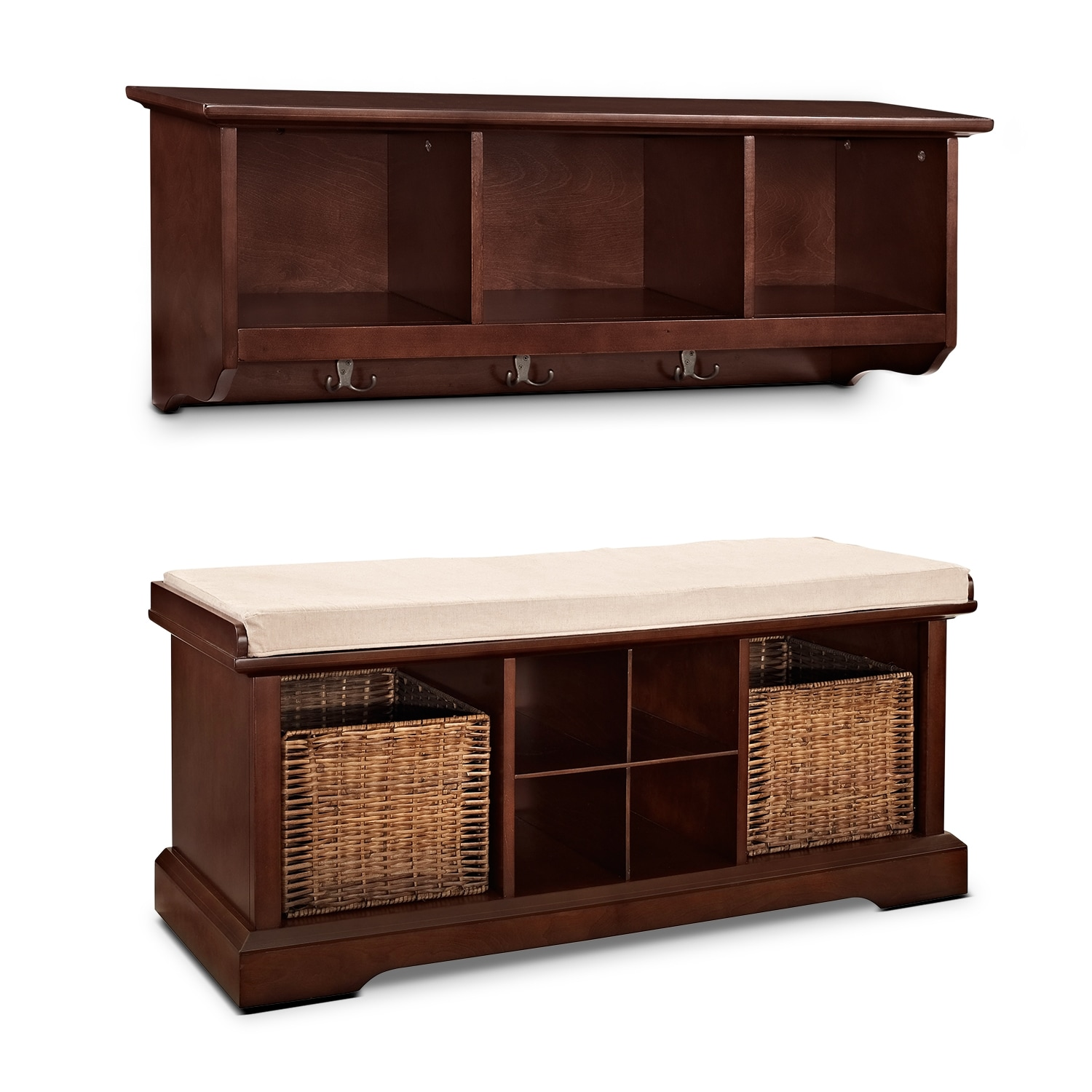 Levi 2 Pc. Mahogany Entryway System