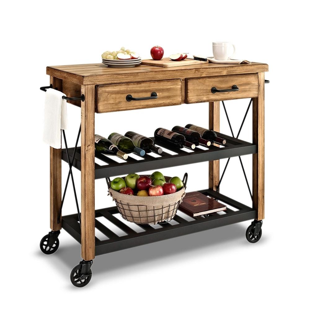 Kitchen Trolley Designs Colors: Fremont Kitchen Cart - Natural