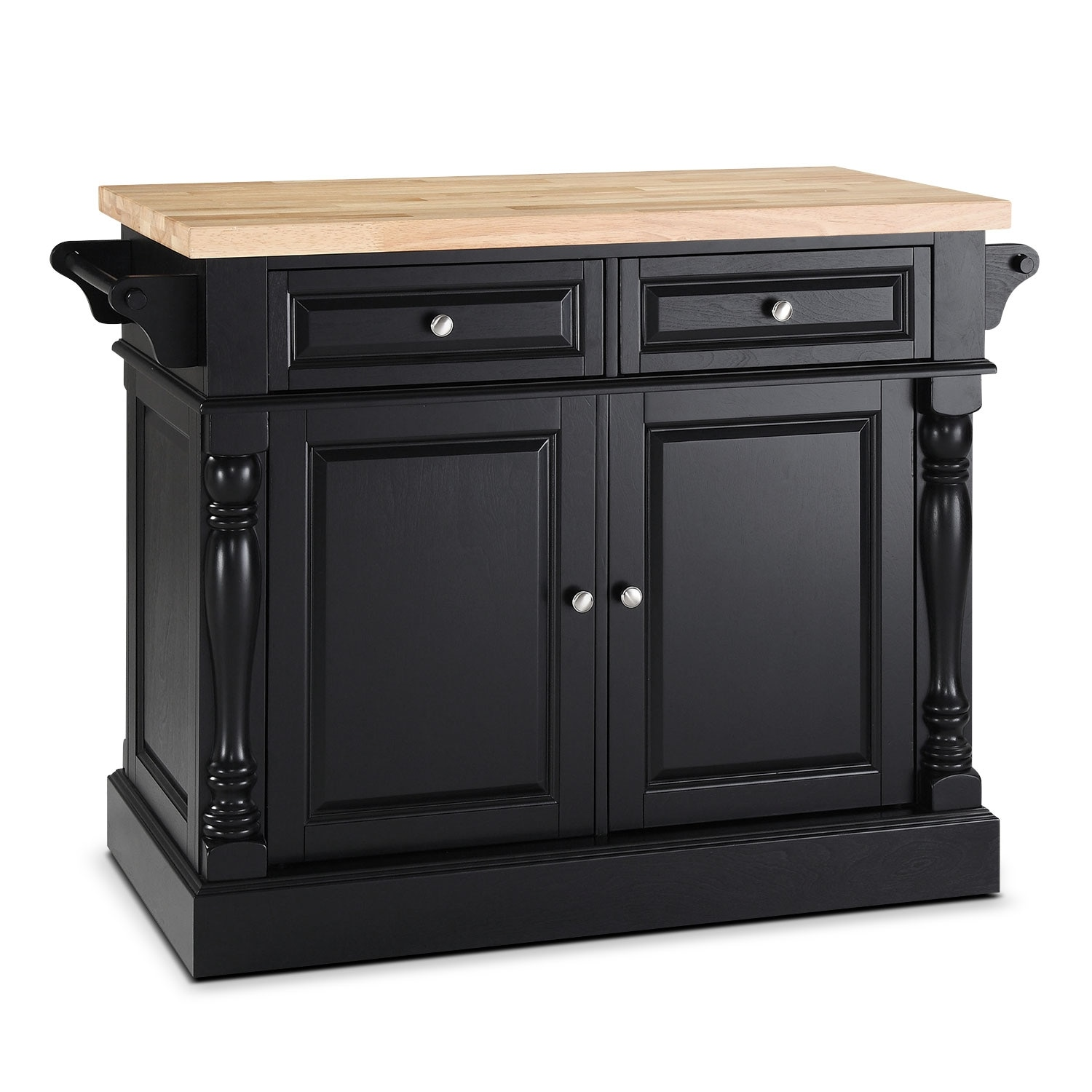 Warren Kitchen Island - Black