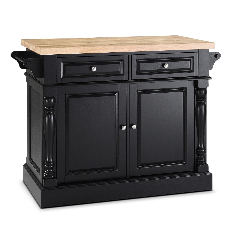 Dining Room Furniture - Warren Kitchen Island - Black