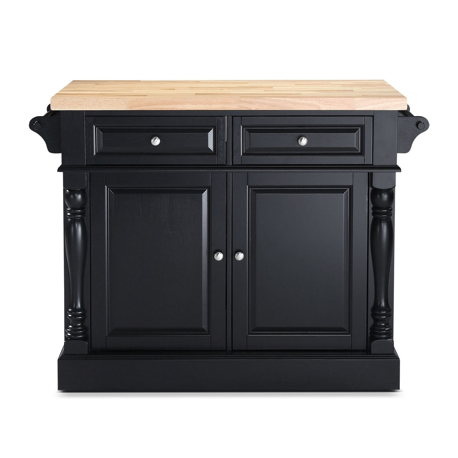 Warren Kitchen Island Black