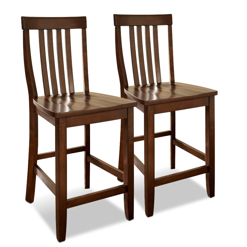 Dining Room Furniture - Melrose Set of 2 Counter-Height Stools
