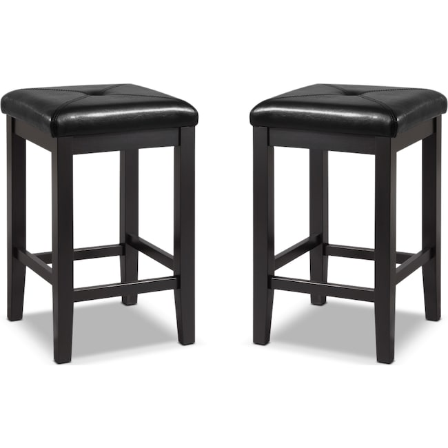 Dining Room Furniture - Bodega 2-Pack Barstools - Black