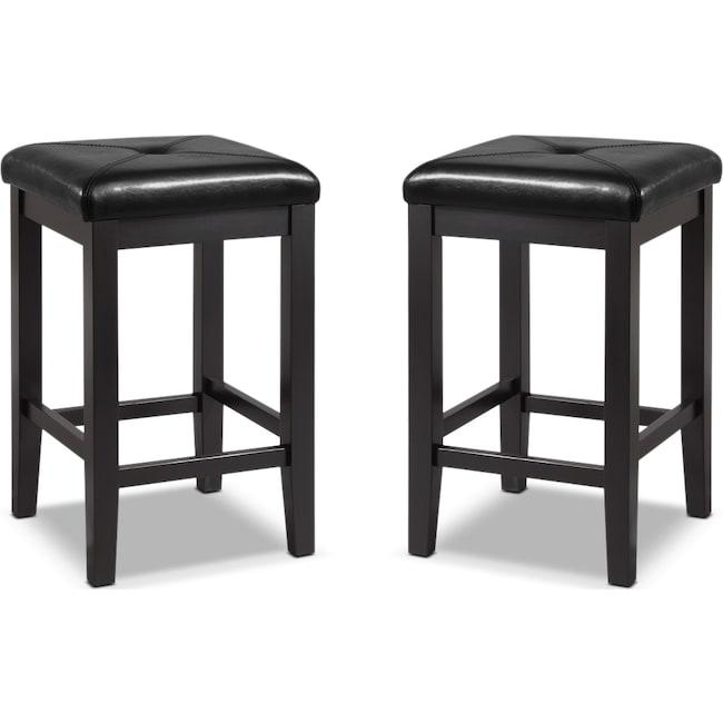 Dining Room Furniture - Bodega 2-Pack Barstools - Black