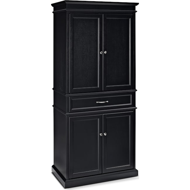 Accent and Occasional Furniture - Midway Pantry - Black