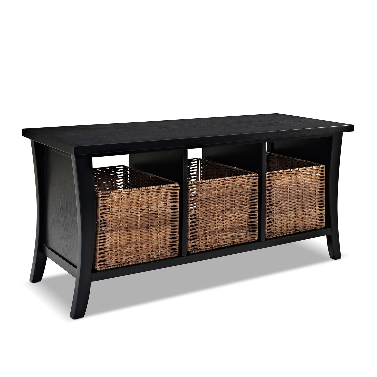 Accent and Occasional Furniture - Mae Entryway Storage Bench - Black  sc 1 st  Value City Furniture & Mae Entryway Storage Bench - Black | Value City Furniture and Mattresses