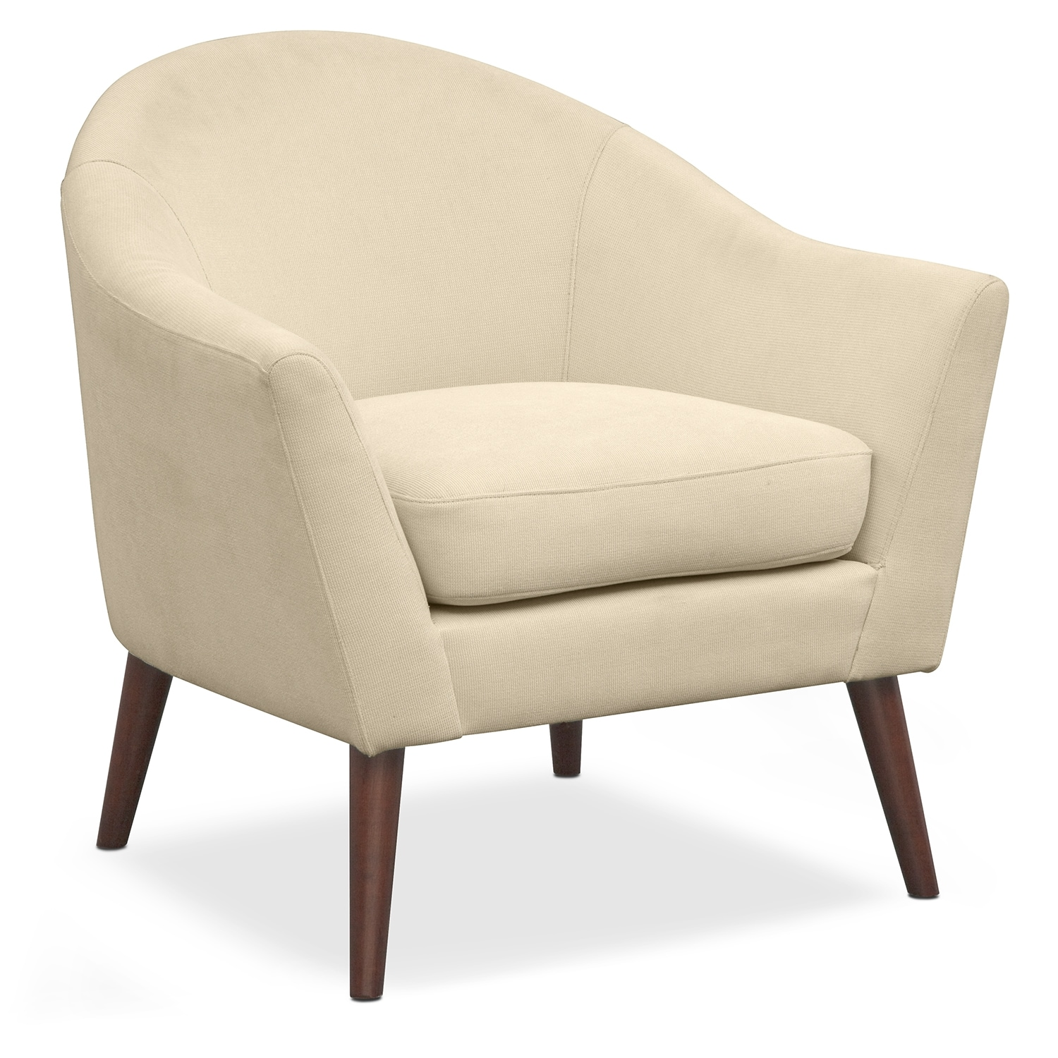 Rosa Accent Chair Ivory Value City Furniture