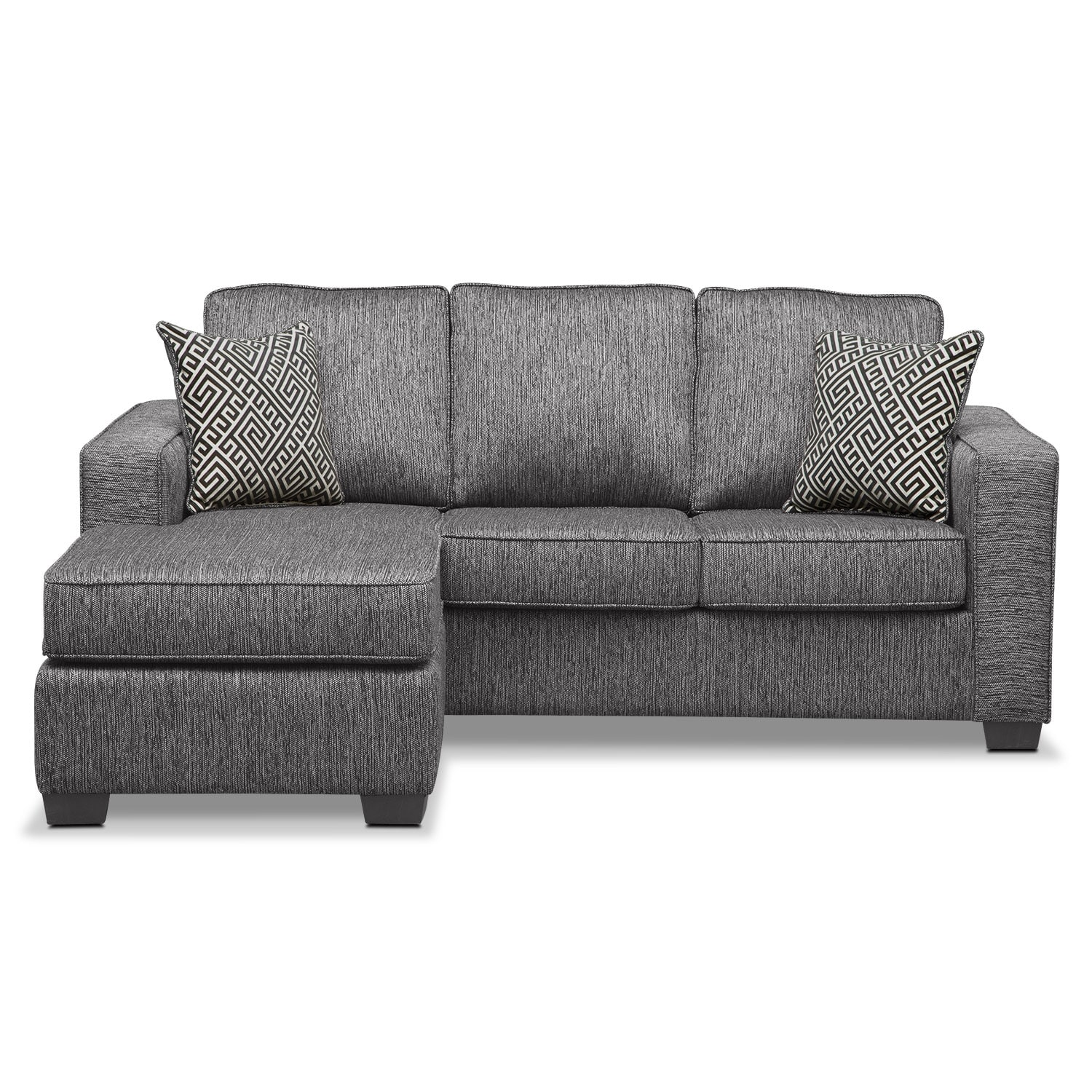 Sterling Innerspring Sleeper Sofa with Chaise Charcoal
