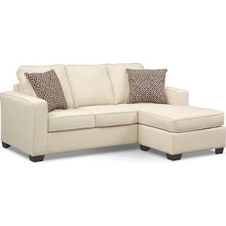 Sterling Memory Foam Sleeper Sofa with Chaise - Beige