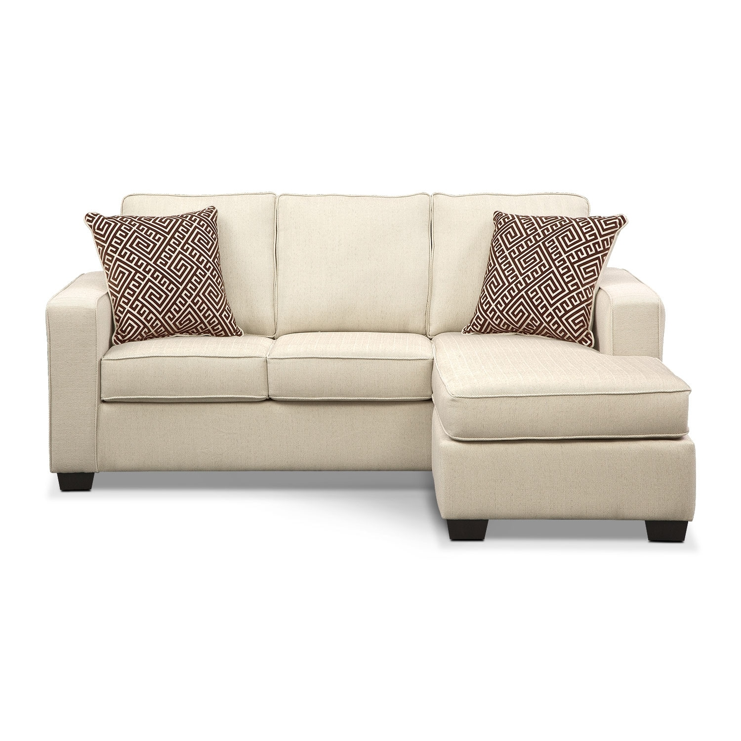 Sterling Innerspring Sleeper Sofa With Chaise Beige Value City Furniture And Mattresses