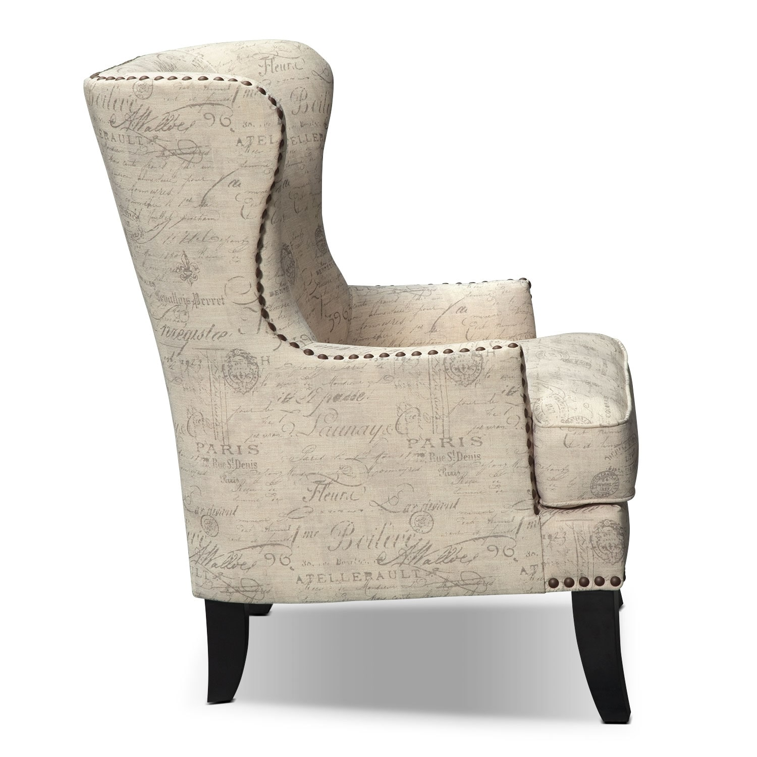 Marseille Accent Chair Cream and Black