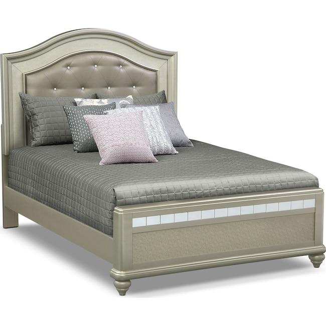 Bedroom Furniture - Serena Queen Bed - Platinum
