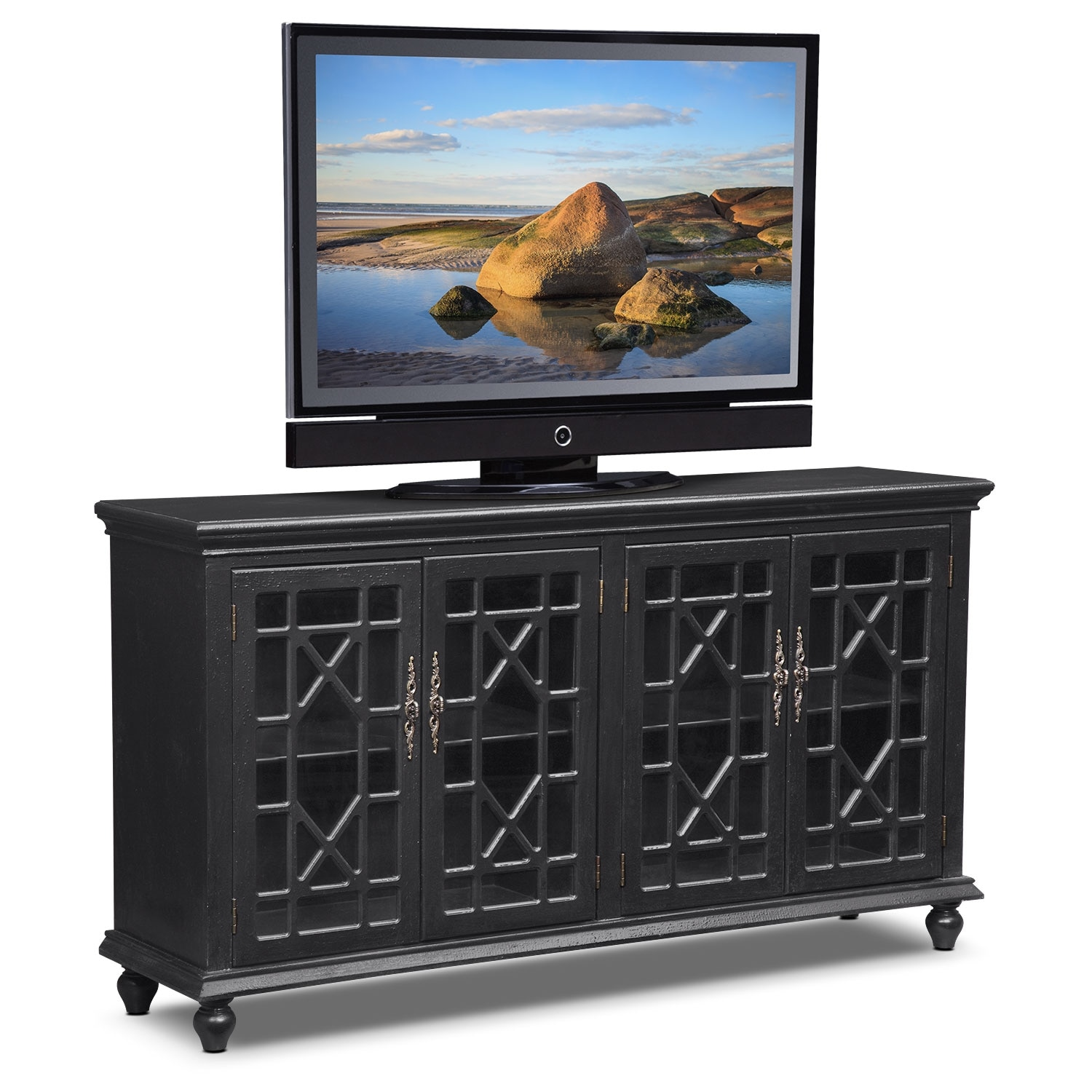 Accent and Occasional Furniture - Grenoble Media Credenza - Black