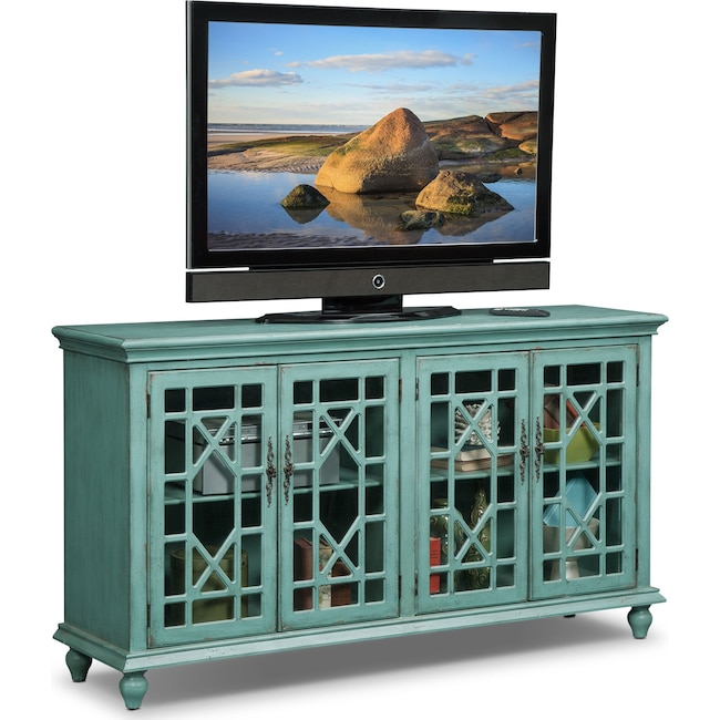 Accent and Occasional Furniture - Grenoble Media Credenza - Teal
