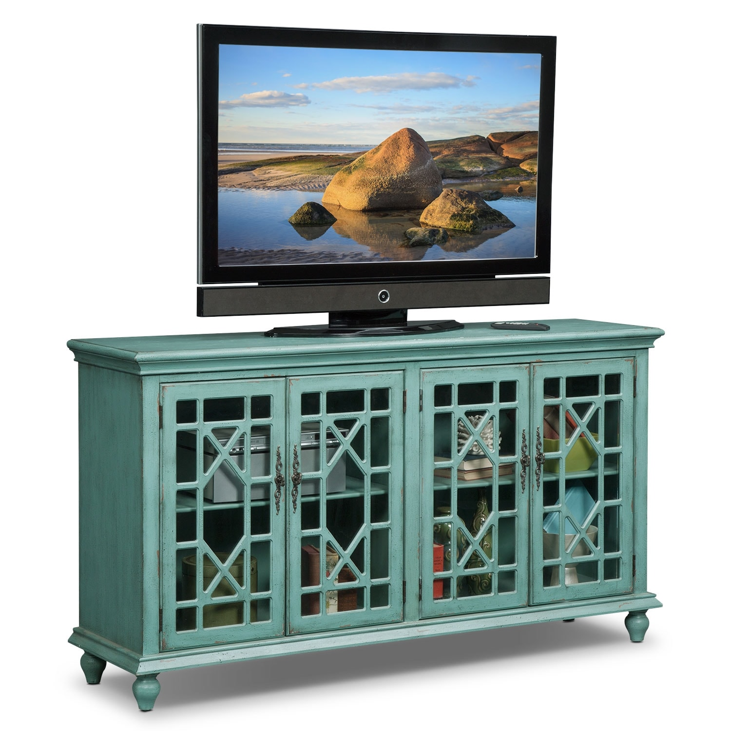 Accent And Occasional Furniture   Grenoble Media Credenza   Teal