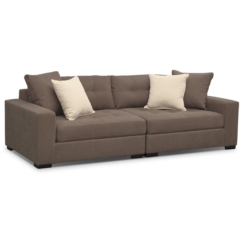 Living Room Furniture - Venti Mocha 2 Pc. Sofa