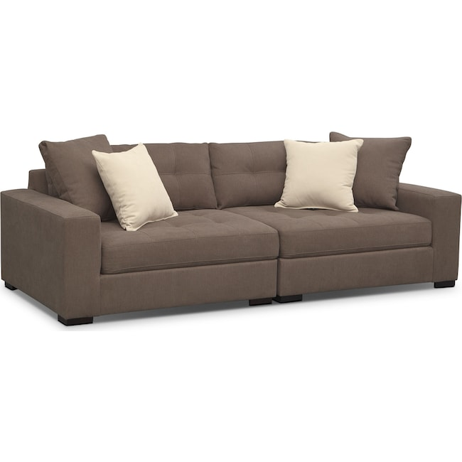 Living Room Furniture - Venti Modular Sofa - Mocha