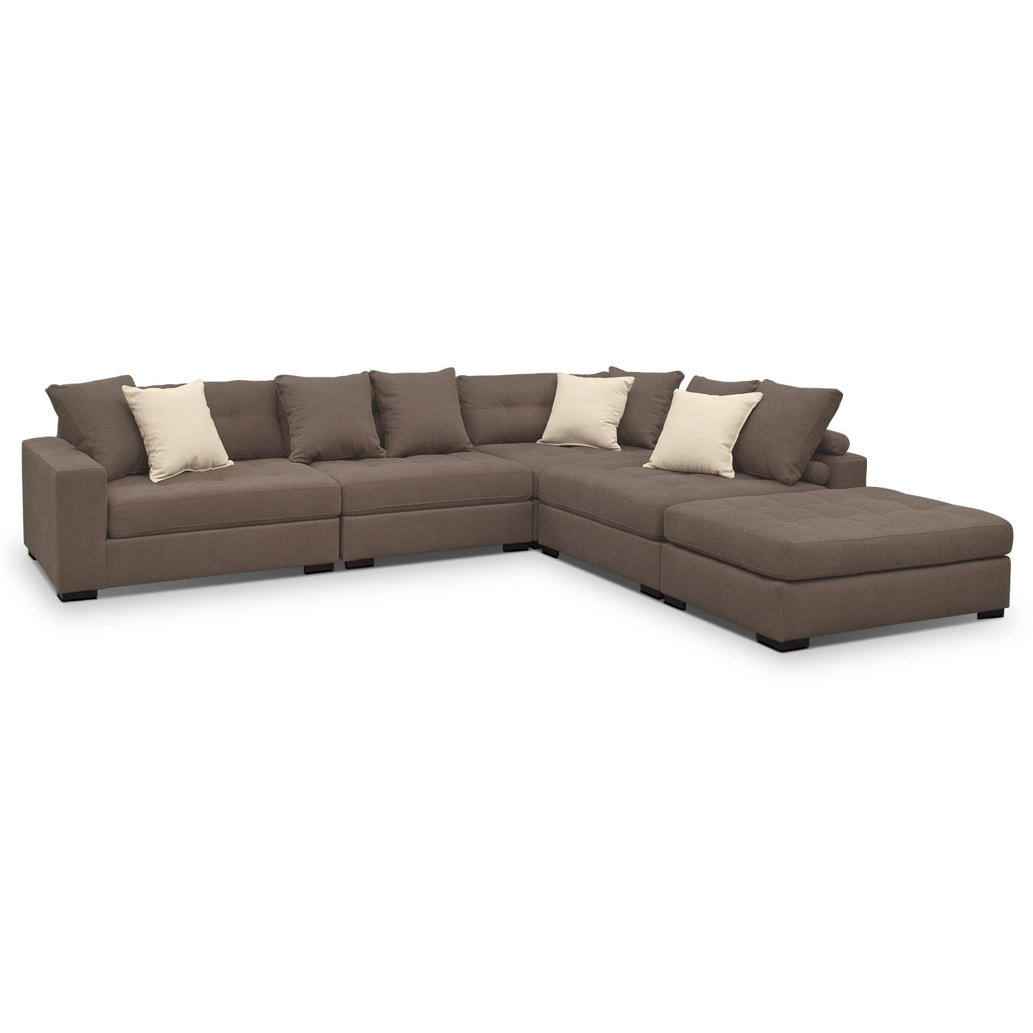 Venti 5 Piece Sectional And Cocktail Ottoman Set Value City