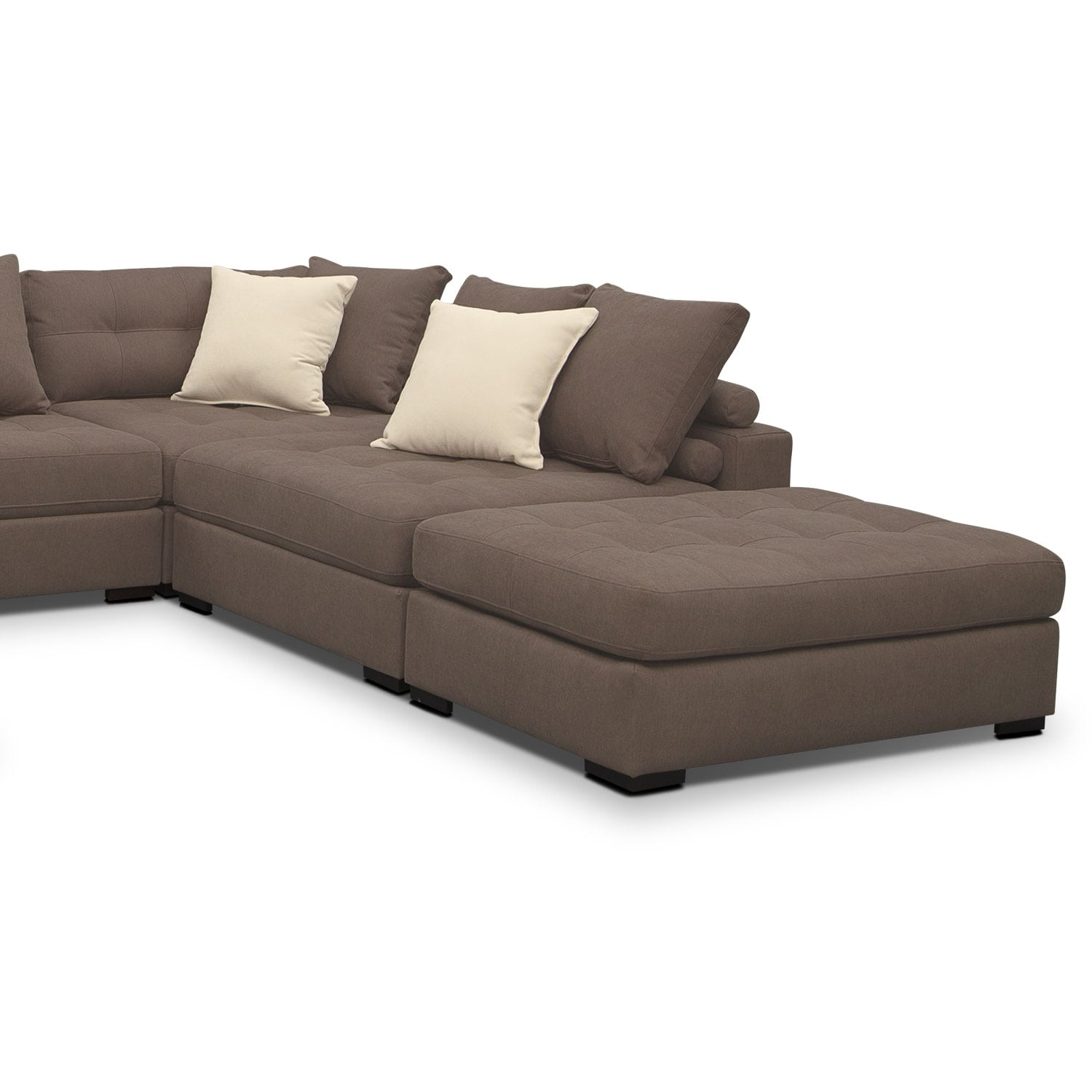 venti 6 piece sectional mocha value city furniture 6 piece s