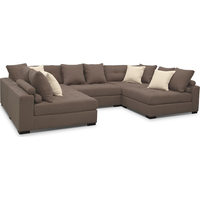 Living Room Furniture - Venti 5-Piece Sectional