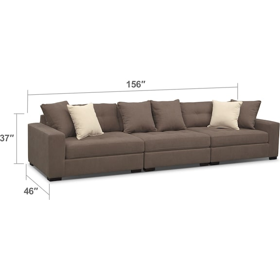 Living Room Furniture - Venti 3-Piece Sectional