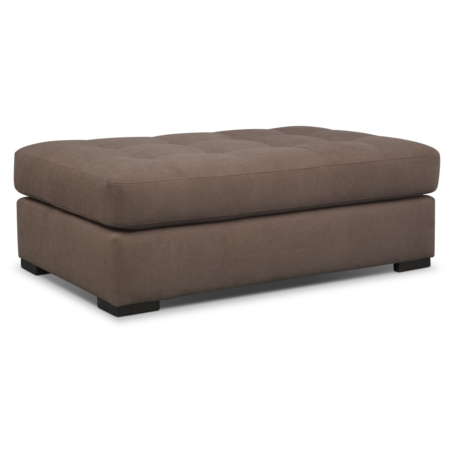 Living Room Furniture - Venti Cocktail Ottoman - Mocha
