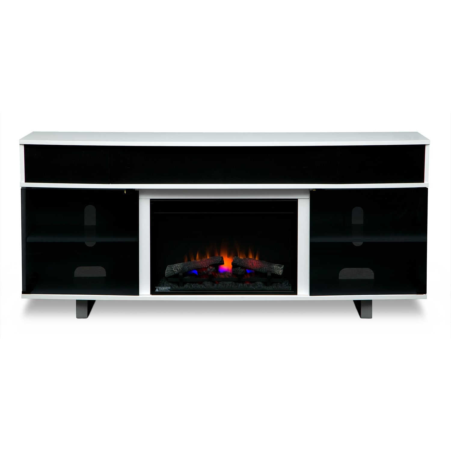 Pacer 72 Traditional Fireplace Tv Stand With Sound Bar White