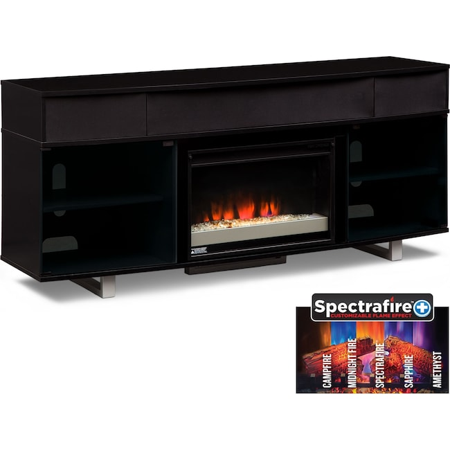 "Entertainment Furniture - Pacer 72"" Contemporary Fireplace TV Stand with Sound Bar - Back"