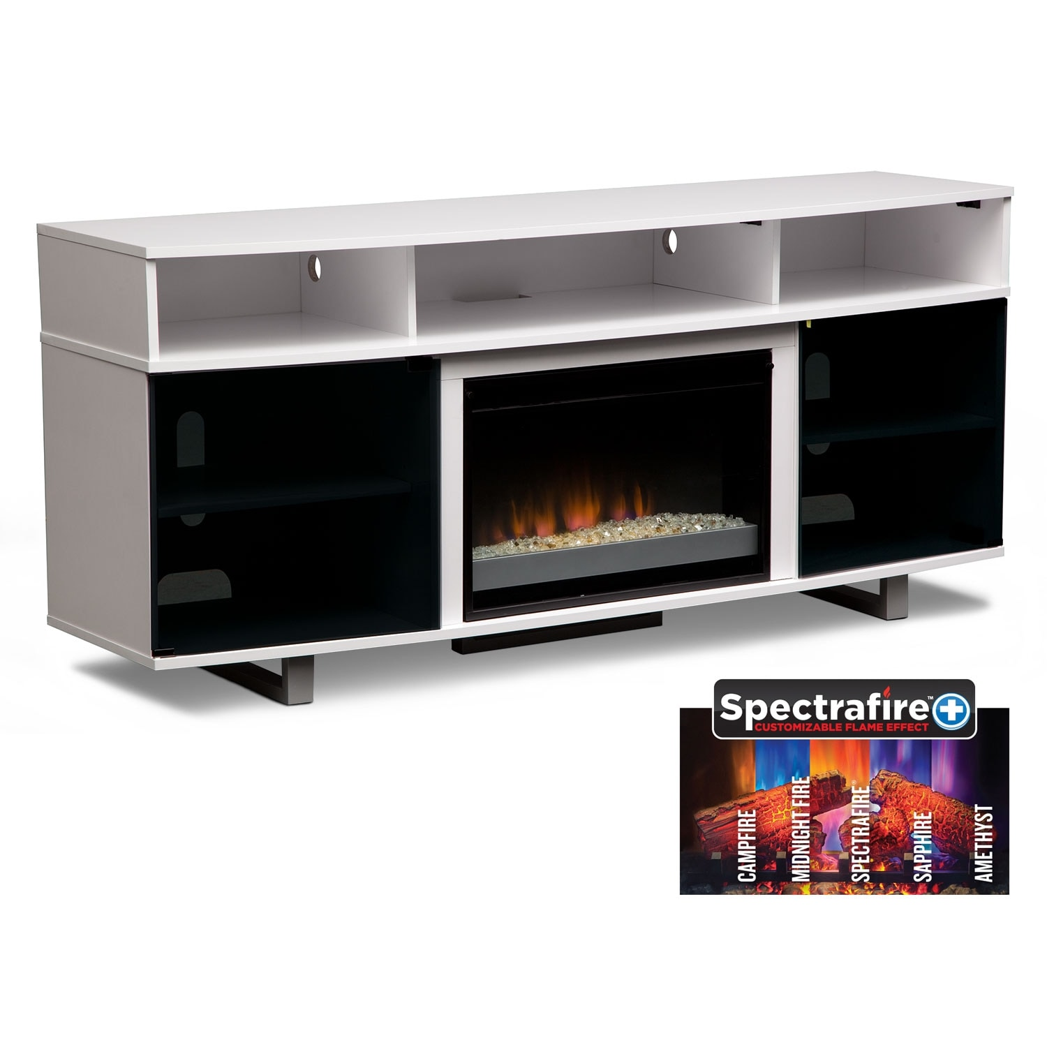 pacer  contemporary fireplace tv stand  white entertainment furniture pacer  contemporary fireplace tv stand . pacer  contemporary fireplace tv stand  white  value city