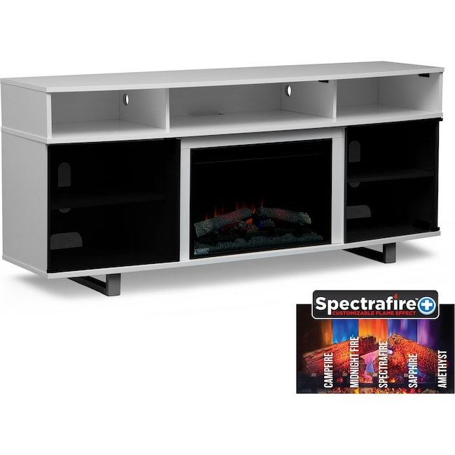 Pacer 72 Traditional Fireplace Tv Stand White Value City