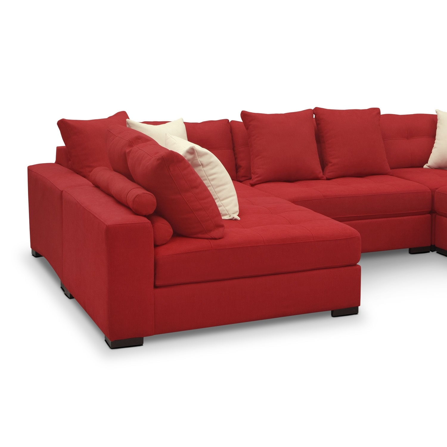 6 Piece Sectional Sofa Traverso Leather 6 Piece Chaise Modular