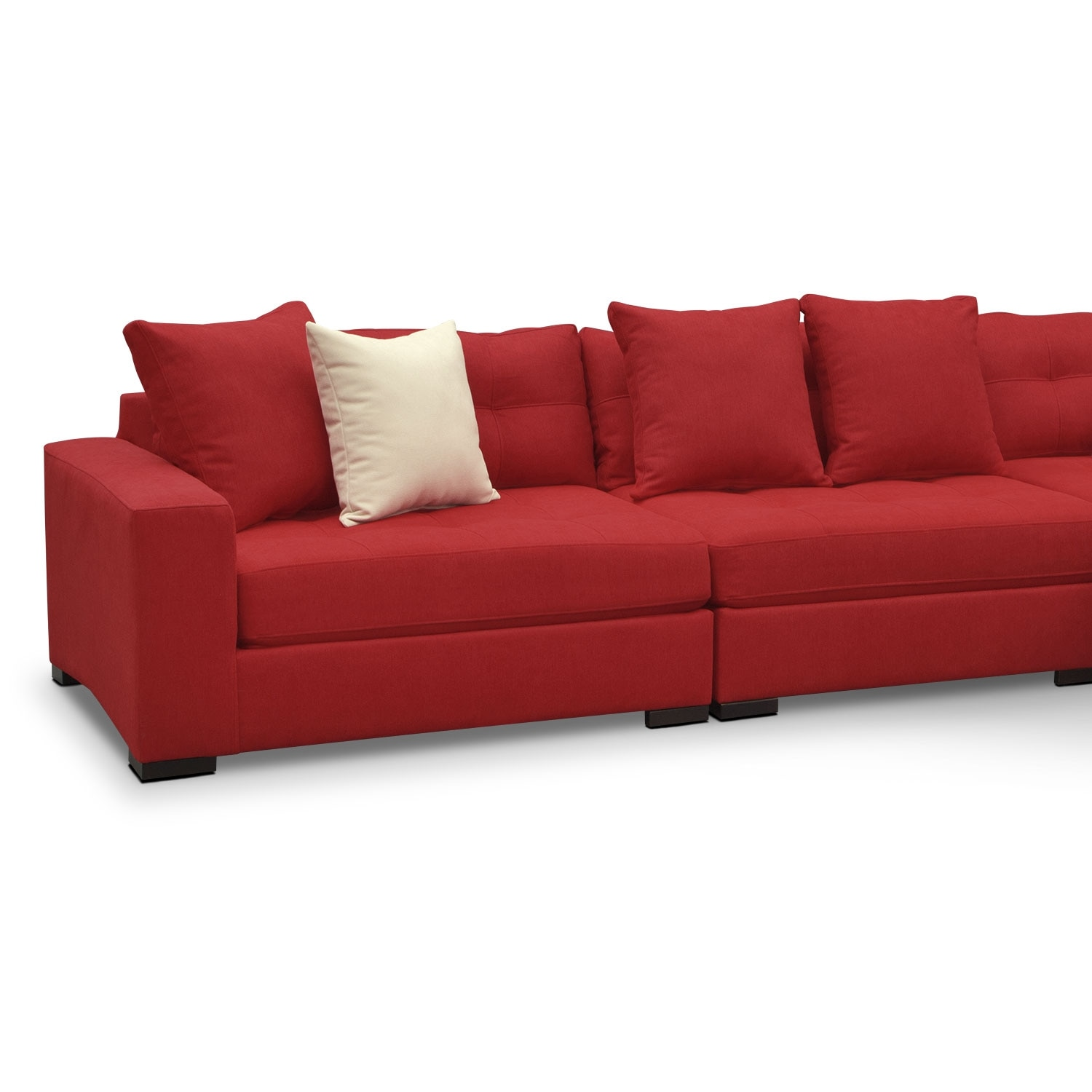 Venti 4 Piece Sectional Red
