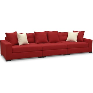 Venti 3-Piece Sectional - Red